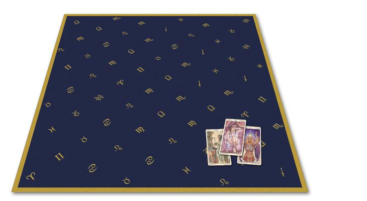 Astrology Embroidered Tarot Cloth By Lo Scarabeo (COR)